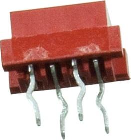 Фото 1/3 215079-4 на ленте, Micro-Match-4 розетка на плату прямая 1.27мм