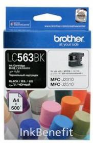 LC563BK, Струйный картридж LC563 чёрный для MFC-J2310, MFC-J2510 (600 стр.)