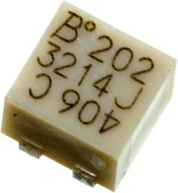Фото 1/3 3214J-1-202E, 2 кОм подстроечный резистор 5 об.
