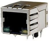 Фото 1/3 SK02-111006NL, Розетка 8P8C (RJ45) со светодиодами и трансформатором