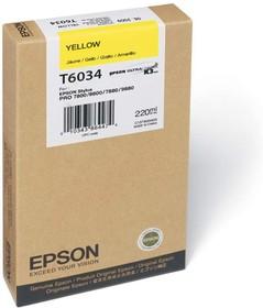 Картридж EPSON C13T603400 желтый
