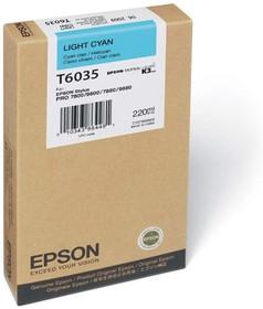 Картридж EPSON C13T603500 светло-голубой