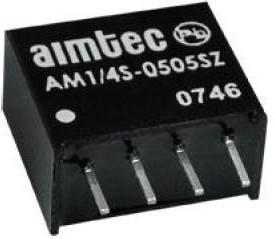 AM1/4S-0505SZ, DC/DC преобразователь, 0.25Вт, вход 4.5-5.5В, выход 5В/0.05A