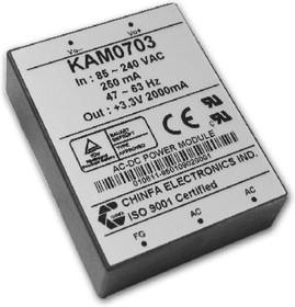 KAM0724, AC/DC преобразователь, 24В,0.32А,7.6Вт