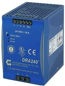DRA240-24A, Блок питания, 24В,10А,240Вт