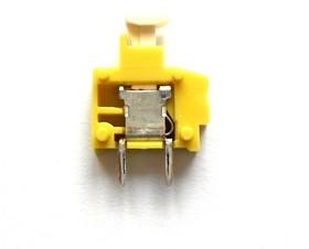 235-776 желтая, Клемма модульная 1pin 3,81мм