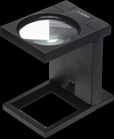 """40542-90, Лупа ЗУБР """"МАСТЕР"""" складная на подставке, светодиодная подсветка, 3 кратное увеличение, диаметр 90мм"""