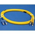 13-DHS1F08-3M/9/125 SC/PC - FC/PC 3.0 mm Duplex PVC, SC-FC патч-корд ...