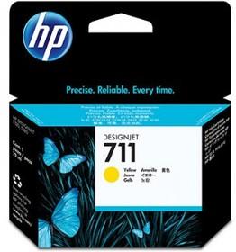 Картридж HP №711 CZ132A, желтый