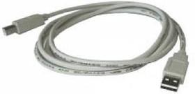 Кабель USB2.0 BURO USB A (m) - USB B (m), 1.8м, серый [usb2.0-am/bm]