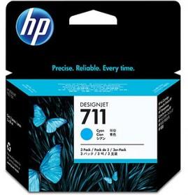 Тройная упаковка картриджей HP №711 голубой [cz134a]