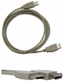 Кабель-удлинитель USB2.0 BURO USB A (m) - USB A (f) 3м [usb2.0-am/af-3]