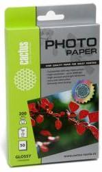 Фотобумага Cactus CS-GA620050/200г/ м2/50л./белый глянцевое для струйной печати
