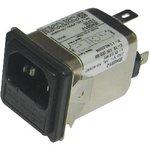 6609117-6, IEC фильтр, 0.101 мкФ, 250 В AC, Стандартный ...