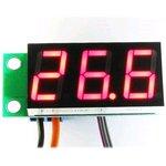 STH0014UR, Встраиваемый цифровой термометр с выносным датчиком (красный индикатор)