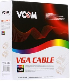 CABLE30, Кабель VGA, DB15 (m) - DB15 (m), ферритовый фильтр, 30м [cable30]