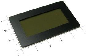 Фото 1/2 FS50x30B-37x17T, Лицевая панель черная 50х30мм, тонированное окно 37х17мм