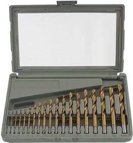 60H739, Сверла по металлу HSS-TiN, 1.0-10.0 мм, S4, 19 шт