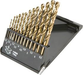 57H088, Сверла по металлу HSS-Co 1.5-6.5 мм, 13шт.