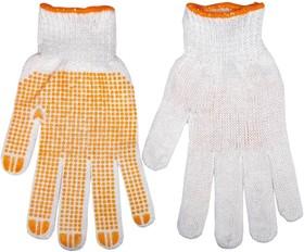 Фото 1/2 83S302, Перчатки рабочие х/б, односторонне резиновое покрытие размер 10