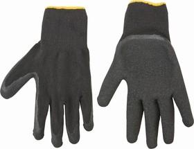 83S213, Перчатки рабочие, х/б, сторона ладони с латексным покрытием, размер 10