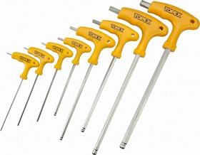Фото 1/2 35D967, Ключи шестигранные HEX с Т-образной ручкой, набор 8 шт.