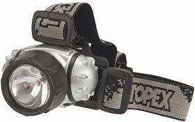 Фото 1/2 94W813, Фонарик головной, 3 х LED + 1 криптоновая лампа; батарейки 3xAAA