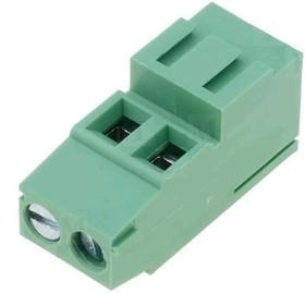 DG500H-5.0-02P-14 (KLS2-128IH- 5.00-02P-4-C), Клеммник винтовой, 2 конт., шаг 5.0 мм
