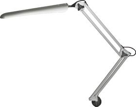 Фото 1/2 Гермес (серебристый), Светильник настольный светодиодный на струбцине (сенсорный выключатель)