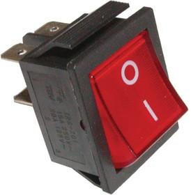 Фото 1/2 IRS-201-1C3 (красный), Переключатель с подсветкой ON-OFF (15A 250VAC) DPST 4P