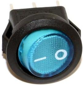 Фото 1/2 SMRS-101-2C3-BL, Переключатель ON-OFF (3A 250VAC) SPST 2P, синяя клавиша