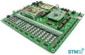 Фото 1/5 MIKROE-1099, EasyMx PRO v7 for STM32 Development System, Полнофункциональная отладочная плата для изучения МК STM32 ARM Cortex-M3 и Cortex-M