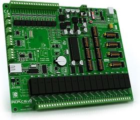 Фото 1/2 MIKROE-465, PICPLC16 v6 PLC System, Лабораторный стенд для разработки систем автоматики на базе PIC18F4520
