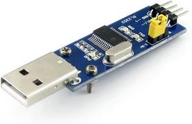 Фото 1/3 PL2303 USB UART Board (type A), Преобразователь USB-UART на базе PL2303 с разъемом USB-A
