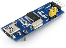 Фото 1/3 PL2303 USB UART Board (mini), Преобразователь USB-UART на базе PL2303 с разъемом USB mini-AB