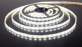 1x5LG120WN3014, Набор светодиодной ленты, 120SMD(3014)/m, белый, 5м, сверхяркие светодиоды, с блоком питания