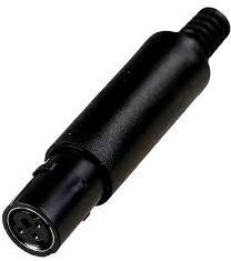 "MDN-3F, MiniDin 3 ""м"" на кабель"