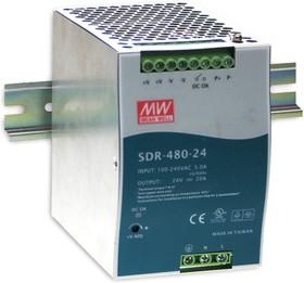 Фото 1/3 SDR-480-24, Блок питания, 24В,20А,480Вт