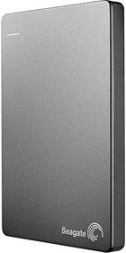 Внешний жесткий диск SEAGATE Backup Plus Slim STDR2000201, 2Тб, серебристый