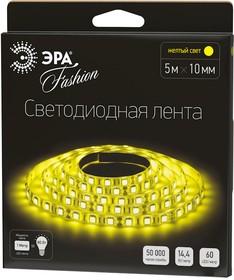 Фото 1/2 LS5050-60LED-IP20-Y, Лента светодиодная (цвет желтый), 14.4Вт/м, цена за катушку 5м