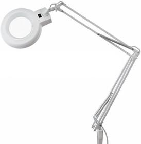 Фото 1/6 31-0021, Лупа на струбцине круглая настольная 8Х с подсветкой