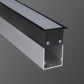 Фото 1/3 100-300-128 / Линейный светодиодный встраиваемый светильник 128см 25W 3000К черный матовый