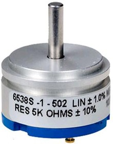 Фото 1/2 6538S-1-502, 5 кОм, Резистор прецизионный многооборотный