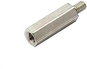 PCHSN-15 (6mm) (Ni), Стойка для п/плат,шестигр., латунь, М3, 15мм, никелированные