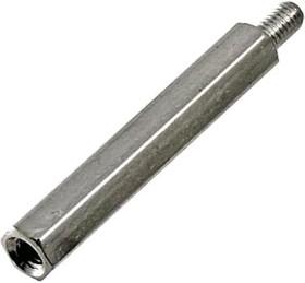 PCHSN-30 (Ni), Стойка для п/плат,шестигр., латунь, М3, 30мм, никелированные