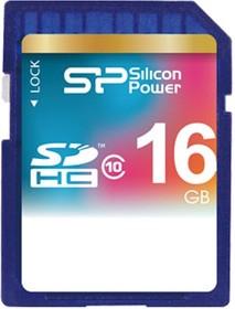 SP016GBSDH010V10, Карта памяти SDHC 16 ГБ, Class 10.