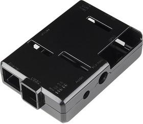 Фото 1/3 Case for Raspberry Pi Model B [BLACK], Корпус для одноплатного компьютера Raspberry Pi Model B