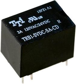 TRB1-5VDC-SA-CD, Реле 1 пер.5V (3A 120VAC/24VDC)