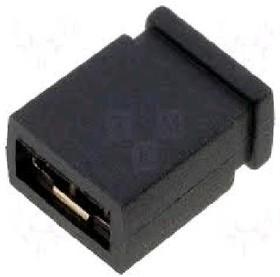 MJ-C-6.5 (DS1027-2B), Джампер 2.54х6.5мм 2-контактный закрытый