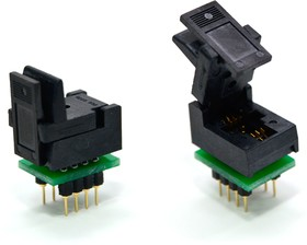 Фото 1/2 DIP8-SON8 5x6 mm (WSON8, DFN8), Адаптер для программирования микросхем (=AE-WS8-U1, TSU-D08/WS08-6X5)